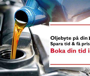 Oljebyte BMW